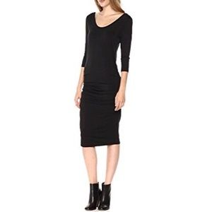 LAmade Ulla ruched 3/4 sleeve Dress